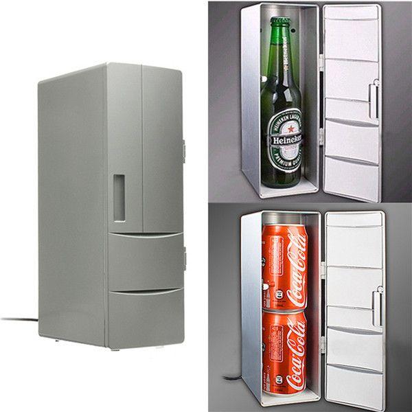 Portable Mini USB PC Car Laptop Fridge Cooler Mini USB PC Refrigerator Warmer Cooler Beverage Drink Cans Freezer