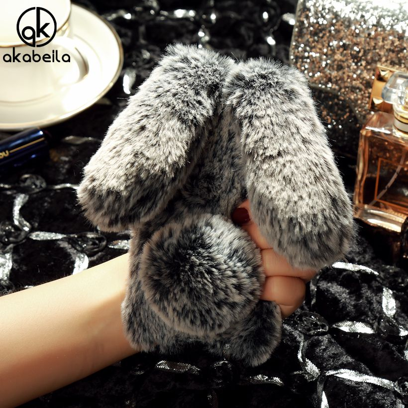 AKABEILA Rabbit Hair Silicone Cases For LENOVO S850 Case Cover For LENOVO S850 Silicone Case For LENOVO S850 Covers TPU