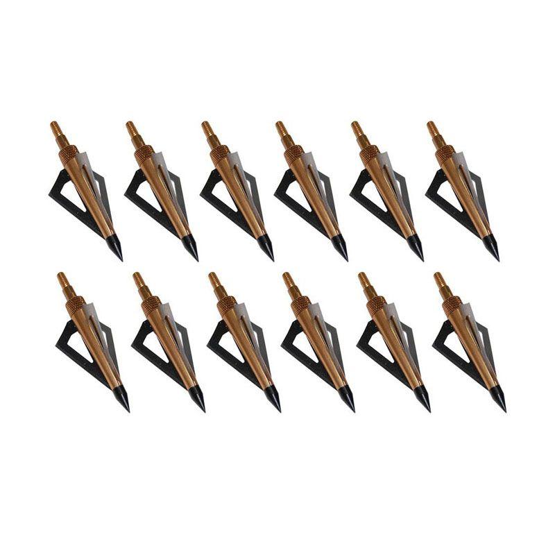 12 unids Caza Tiro Con Arco Flechas Broadheads 100GR 3-cuchillas Arco Compuesto o Ballesta de Carbono Arcos Flechas Nuevo