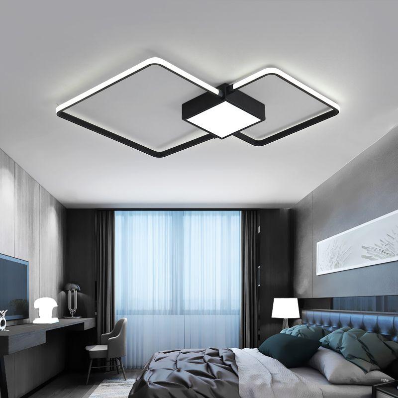Modern LED Ceiling Lights For Living Room Bedroom Study lamparas de techo White/Black LED Ceiling Lamp Home Lighting AC85-265V