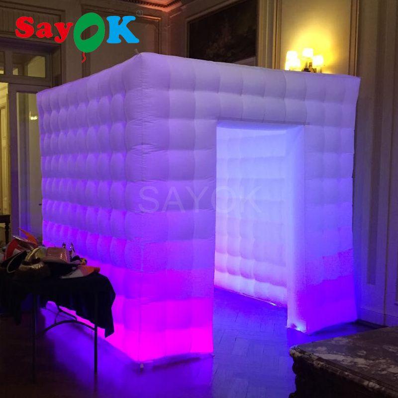 Kundenspezifische hochzeits-party photo booth requisiten foto booth enclosure aufblasbare photo booth hintergrund für verkauf