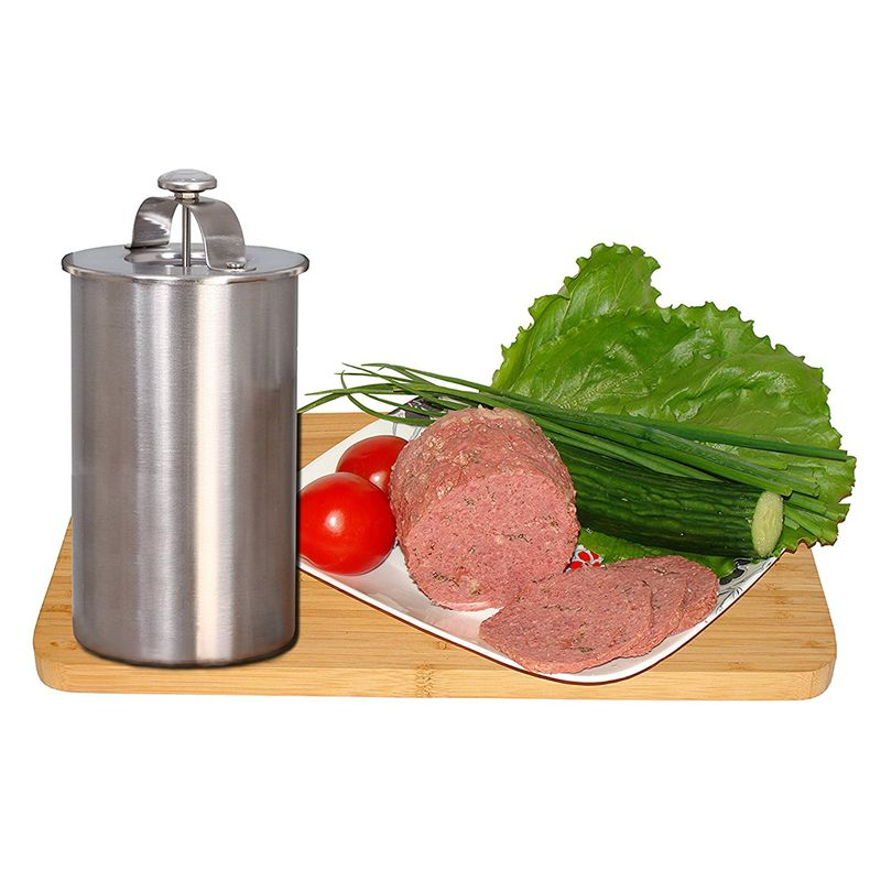 1 Liter Stainless Steel Ham Maker / Ham Meat Rolling Machine With a <font><b>Thermometer</b></font> Ham Boiler Meat Pot Pan Pressure Ham Cooker