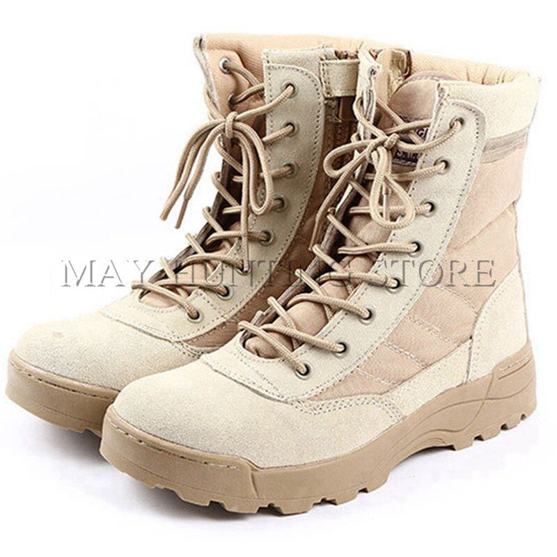 Tactical SWAT Boots Military Paintball Airsoft Combat Shoes Outdoor Men Hiking Training Boots