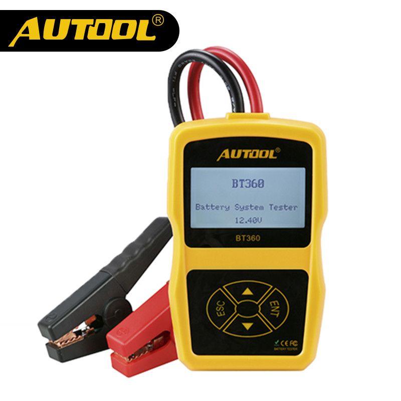 AUTOOL BT360 Car Battery Tester Vehicle Cranking Charging Digital <font><b>Analyzer</b></font> 2000CCA 220AH Multi-Languages BAD Cell Test Tools