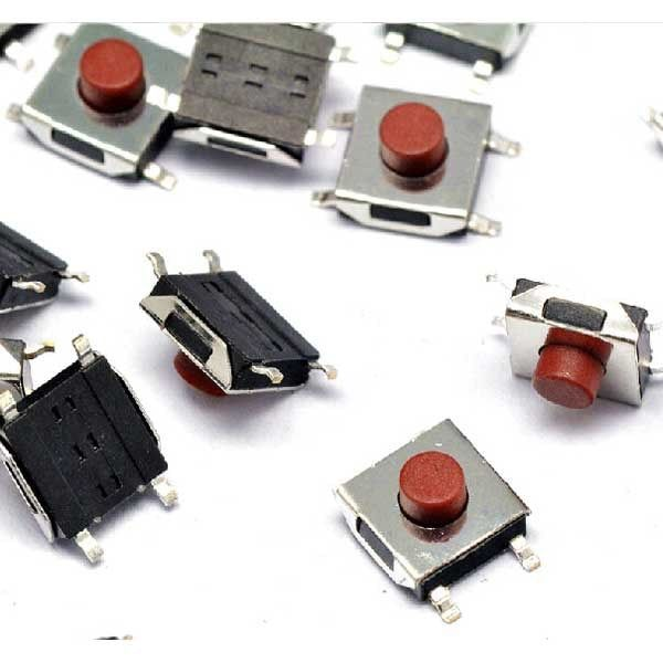 6*6*3.7 mm4 pins  SMD push button mini switch for MP3 MP4 DVD Camera Cell phone PDA Monitor Pen
