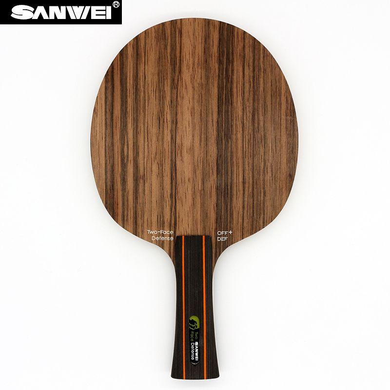 Sanwei ZWEI GESICHT (2 Gesicht, angriff & Verteidigung, Ebony & Hinoki Oberfläche) Tischtennis-blatt Verteidigung Schläger Tischtennisschläger