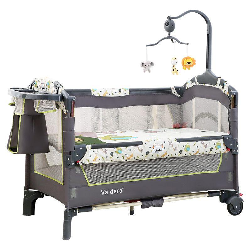 Valdera tragbare falten baby bett multifunktionale baby bett spleißen bett, neugeborenen wiege falten