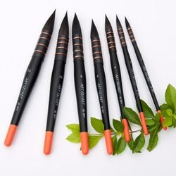65RPY wooden handle squirrel hair high quality professional watercolor brush