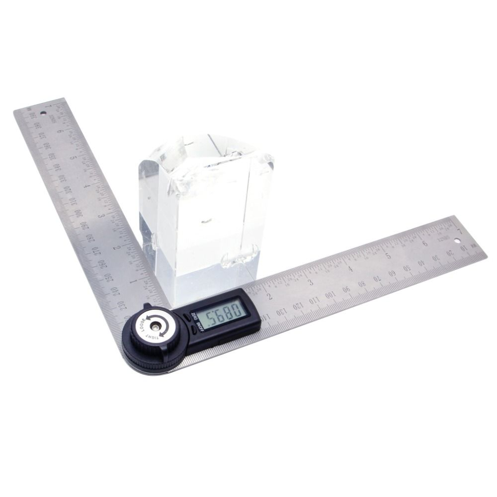 2 In 1 Digital Angle Ruler Protractor 360 Degree 200mm Electronic Meter Finder Gauge Measuring Tool