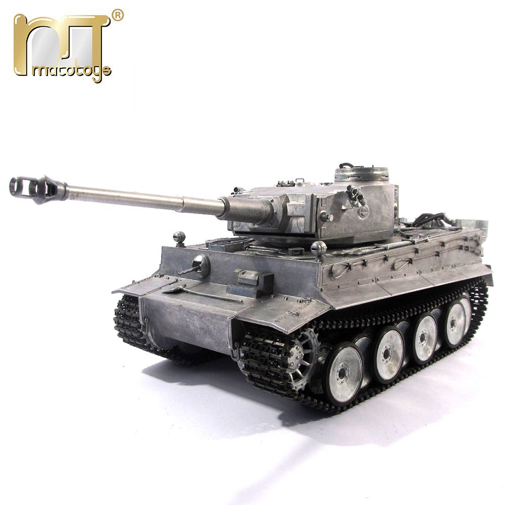 MATO 1220 100% Metall 2,4g RC Tank 1 16 Deutsch Tiger 1 Infrarot Battle Recoil Barrel BB Schießen Airsoft bereit Zu Laufen VS Tamiya