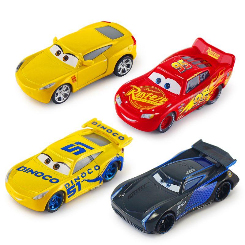 Disney Pixar Cars Cars 2 3 Lighting McQueen Jackson Storm Cruz Ramirez Mater Diecast Metal Alloy Cars Model Kid Christmas Toys