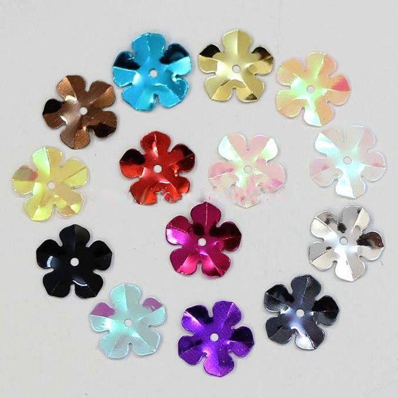 Около 310 шт./лот 15 г цветок Лазерная Блёстки блестящие ПВХ Украшения для Скрапбукинг Вышивание Материал ручной работы высокое качество lp06