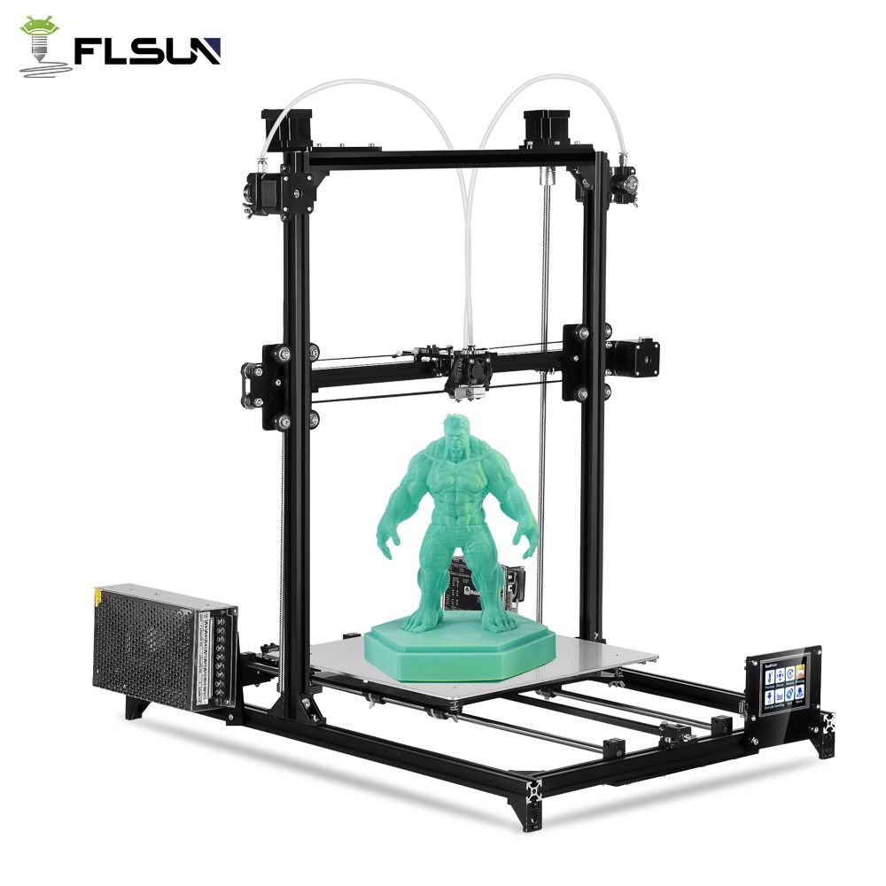 Flsun 3D Printer Kit Large Printing Area 300*300*420mm Double Extruder Touch Screen Auto Leveling 3D-Printer With Heated Bed