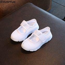 Davidyue Merek Anak Kanvas Sepatu Kasual Musim Panas Tenis Infantil Fashion Bernapas Mesh Olahraga Anak Laki-laki dan Perempuan Sepatu