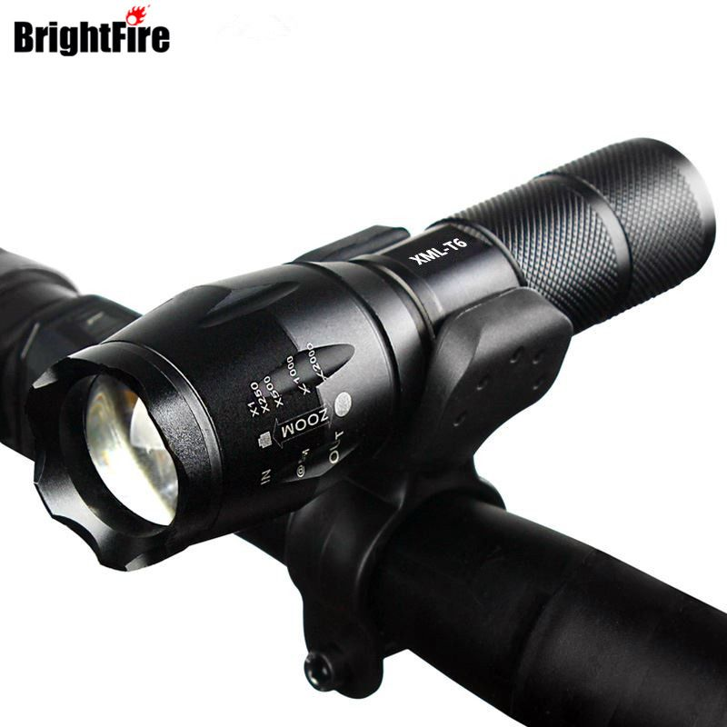 Professionelle Wasserdichte CREE XM-L T6 3800LM Fahrrad Licht Taschenlampe Zoomable Led-taschenlampe Fahrrad Licht Mit Taschenlampe Halter