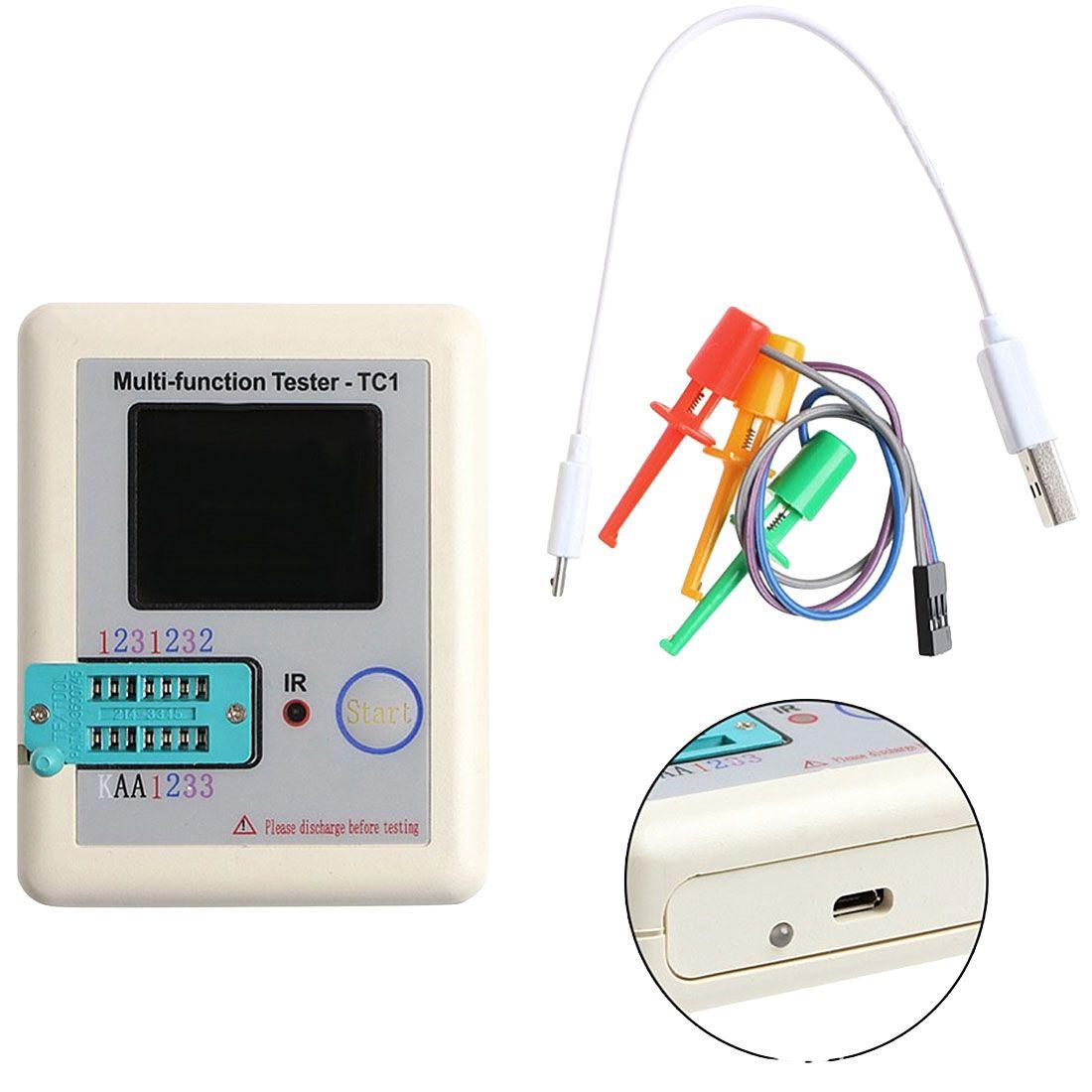 Transistor Tester TFT Diode Triode Capacitance Meter LCR ESR meter NPN PNP MOSFET IR Multifunction Tester Multimeter