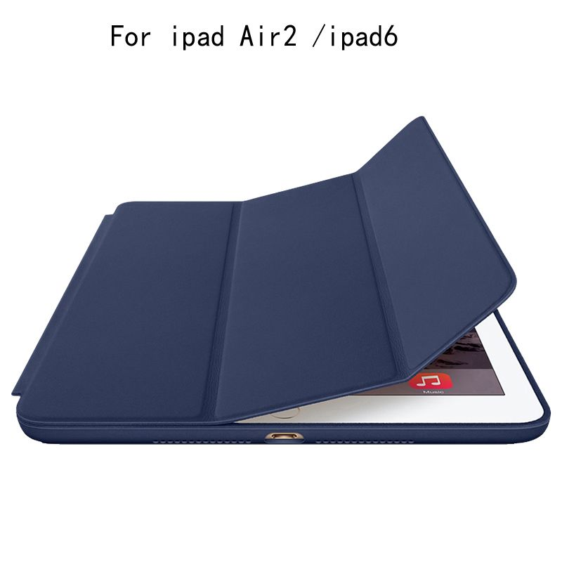 S-GUARD Original smart tablet case Protective PU Leather cover case For Apple i pad Air2/ i pad6 tablet Magnetic pu leather Case