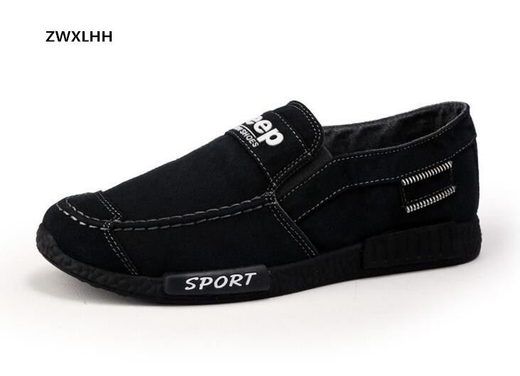 Livraison gratuite 2017 automne nouveaux hommes de denim toile chaussures, slip-on hommes vulcanisé chaussures taille 39-44