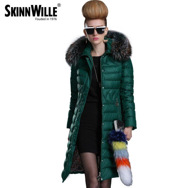 skinnwille 2017 winter jacket women warm coat womens winter jackets and coats parkas for women winter fur coat down jacket