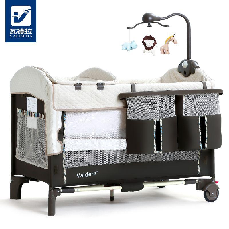 Valdera складной многофункциональный детская кровать и новорожденных кровать с путешествия