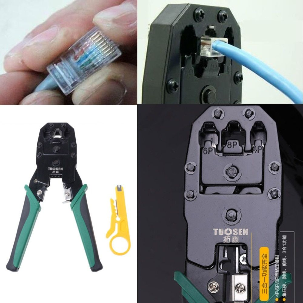 RJ45 RJ11 RJ12 Cat 5/5e Network LAN Cable Crimping Pliers Hand Tool For 4P 6P 8P