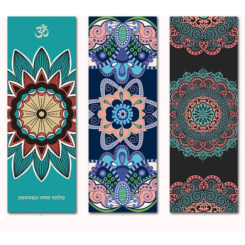 Suede Natural Rubber Yoga Mat <font><b>Anti</b></font> Slip Sweat Absorption 183*66cm*1.5mm Yoga Pad Fitness Gym Sports Exercise pad Yoga Mats