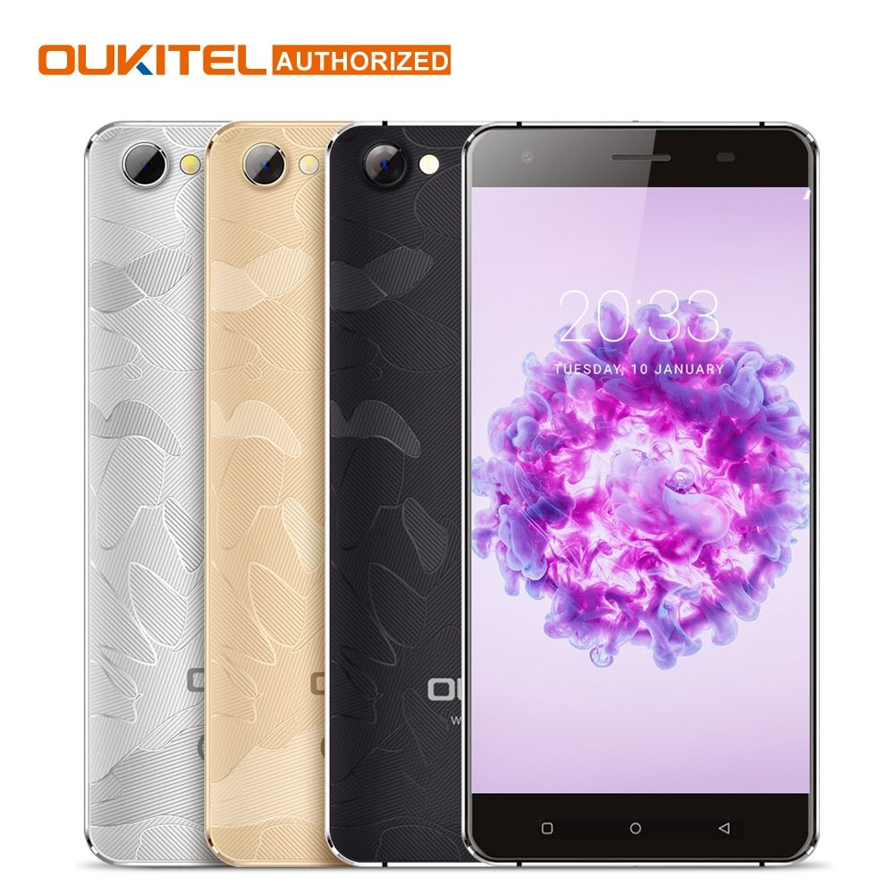 <font><b>Oukitel</b></font> C5 Pro 5.0 Inch HD MTK6737 Quad Core Screen Smartphone 2000mAh Android 6.0 Cell Phone 2GB RAM+16GB ROM Mobile Phone