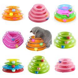 مضحك لعب الحيوانات الأليفة القط مجنون الكرة القرص التفاعلية تسلية لوحة اللعب القرص Trilaminar القرص الدوار لعبة القط