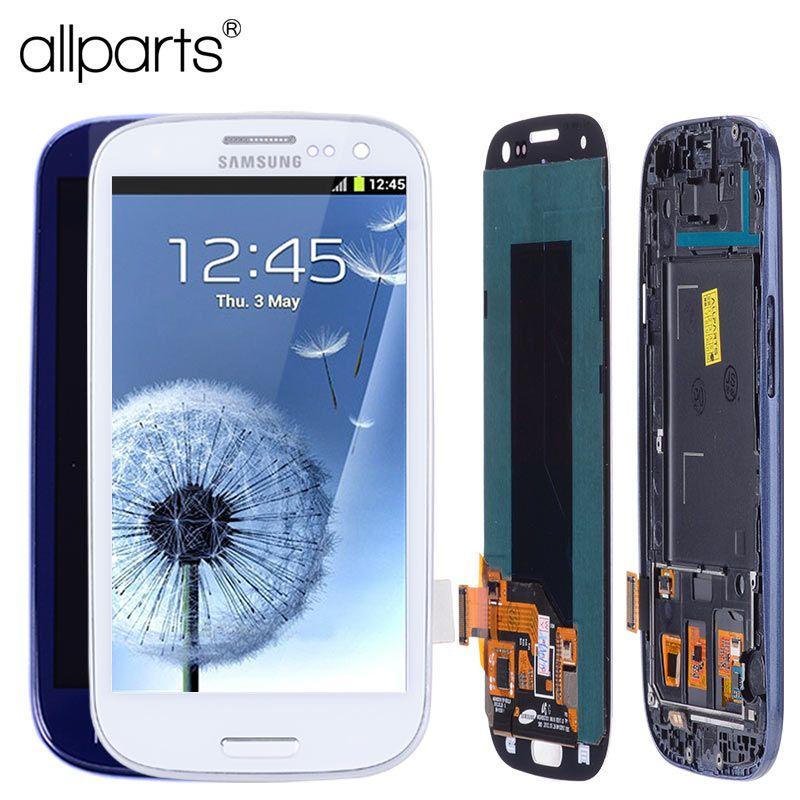 AA 4.8'' i9300i i9300 Display For SAMSUNG Galaxy S3 LCD Screen Assembly with Frame For SAMSUNG Galaxy S3 Display i9300 LCD