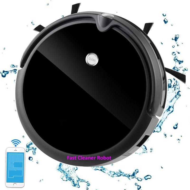 NEWEST Wet And Dry Robot Vacuum Cleaner With Camera,Smart Gyroscope ,Smart Memory Mapping,350ML Water Tank .Lithium Battery