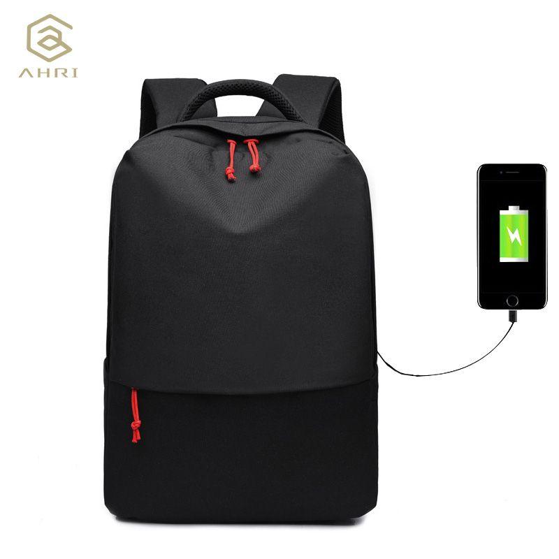 AHRI 2017 New Design brand men backpack anti-theft External USB charge port for 14