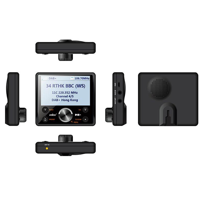 Numérique Véhicule DAB + En-Voiture Radio Sans Fil Transmetteur FM Bluetooth Mains Libres DAB + Tuner Avec Audio de sortie Comprennent Antenne