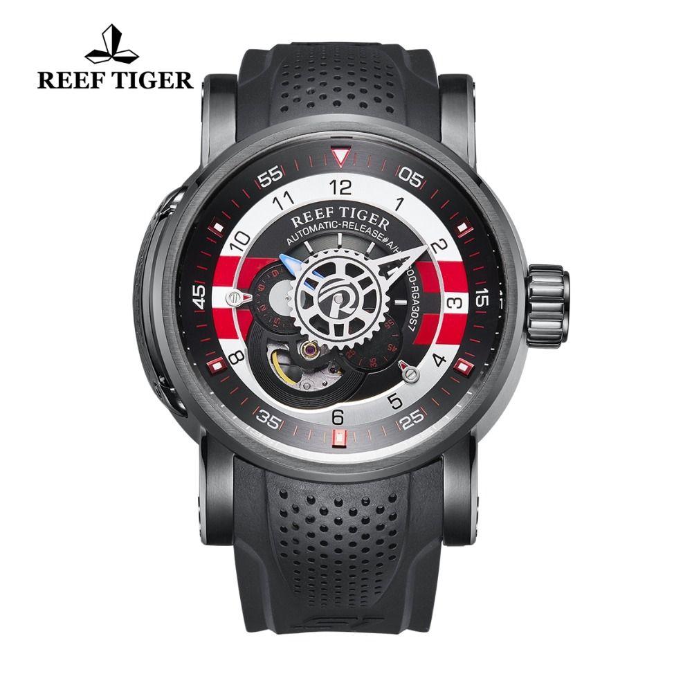 Riff Tiger/RT Luxus Designer Wasserdichte Sport Uhren Rubber Strap Uhr für Männer Automatische Uhren relogio masculino RGA30S7