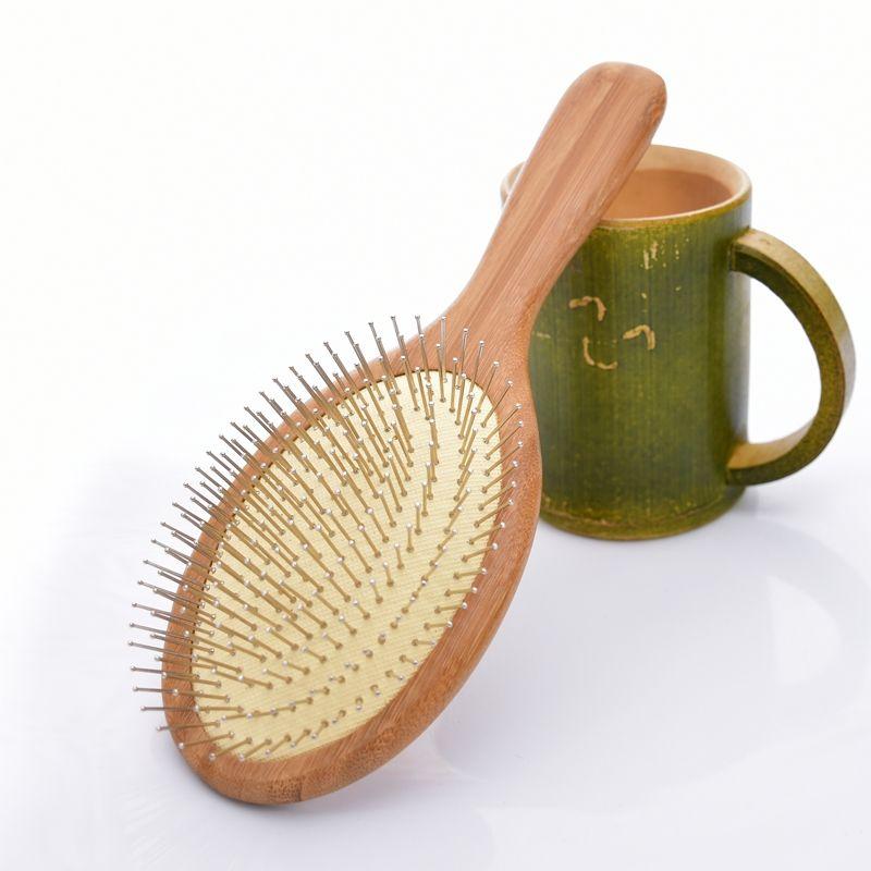 Naturel en bois Massage Airbag peigne soin cheveux soin brosse à cheveux et beauté SPA masseur peigne antistatique tête en bois peigne SY17D5