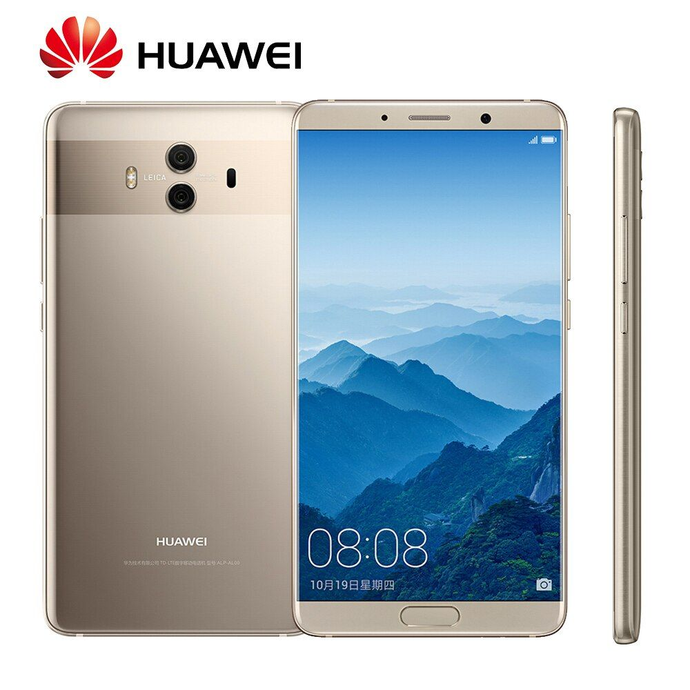 Global Rom Huawei Mate 10 Android 8.0 OTA Update Kirin970 Octa Core Fingerprint 20MP Rear camera 4G LTE Fingerprint Mobile Phone