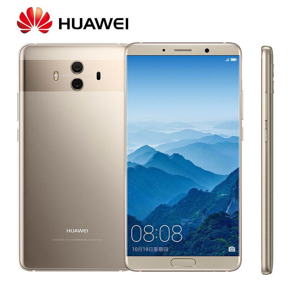 Globale Rom Huawei Mate 10 Android 8.0 OTA Update Kirin970 Octa Core Fingerprint 20MP Hinten kamera 4g LTE Fingerprint Mobile telefon