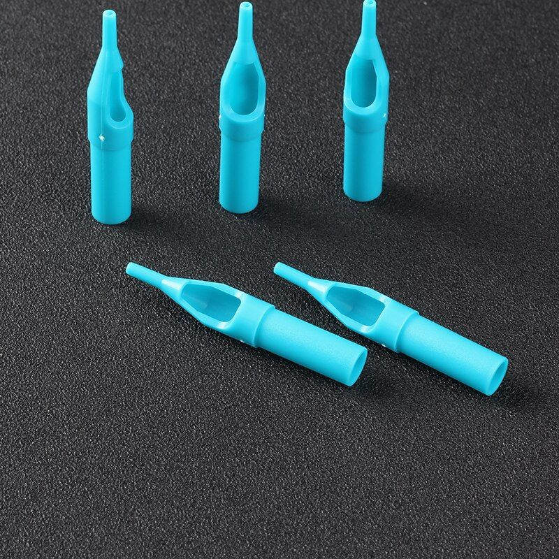 1RT Tattoo Tips 50pcs Blue Disposable Tattoo Tips 1RT High Quality Plastic Tips For Tattoo Machine Supplies Free Shipping