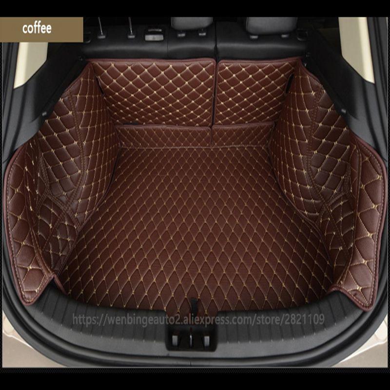 Wenbinge Spezielle autokofferraummatte für Tesla Model S modell X Dodge charger Caravan Kaliber Avenger Reise Cargo-Liner zubehör