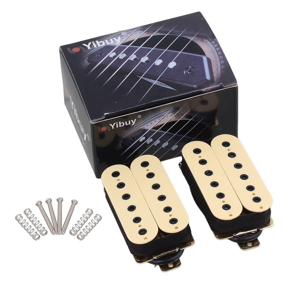 Yibuy guitare électrique cou pont pick-up Humbucker Double bobine crémeux-blanc haut rendement