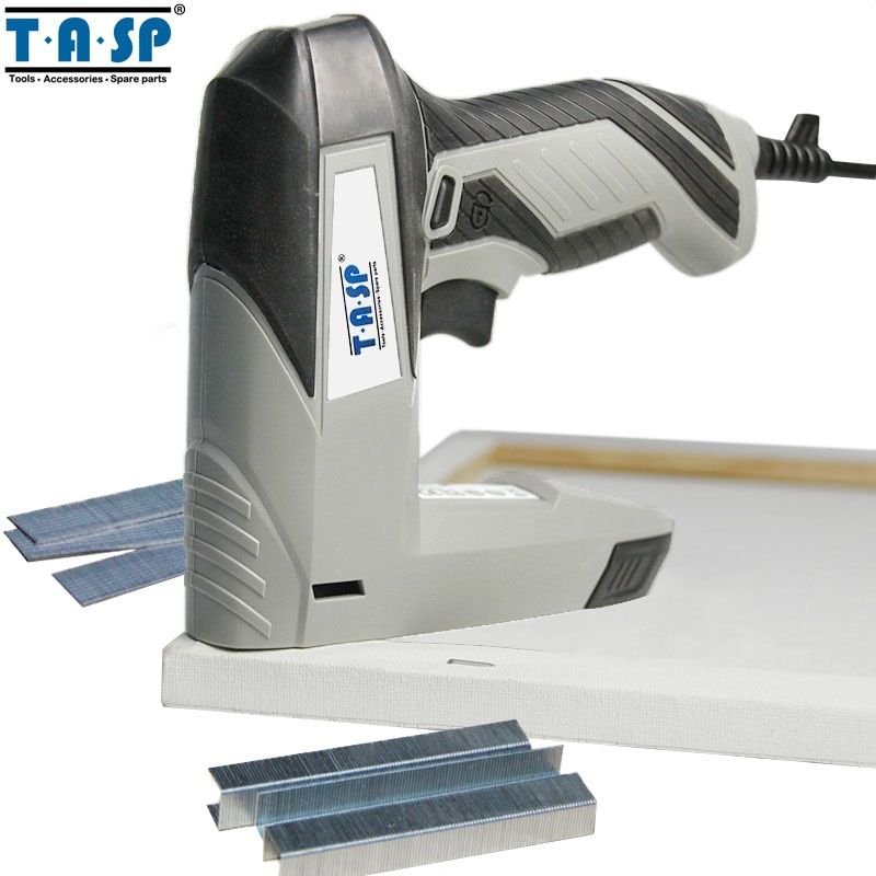 TASP 220V 45W Electric Stapler Staple Nail Gun Tacker for Woodworking Power Tools