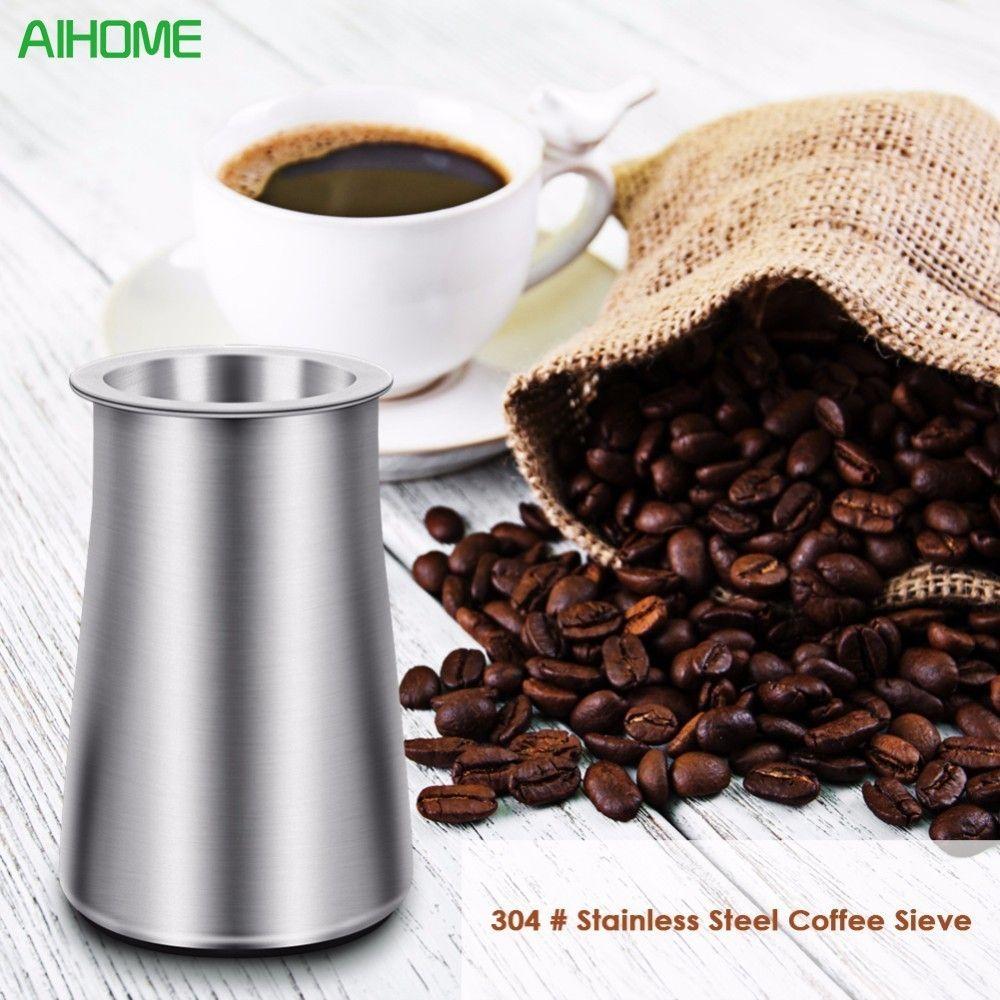 1 pc café poudre tamis acier inoxydable farine tamis filtre tasse anti-poussière café broyeur accessoire pour Barista
