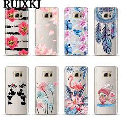 Téléphone Cas Pour Coque Samsung Galaxy S6 S7 Bord S8 9 Plus J3 J5 J7 A3 A5 A7 2016 2017 A8 Plus 2018 Couverture Souple TPU Silicone Couverture