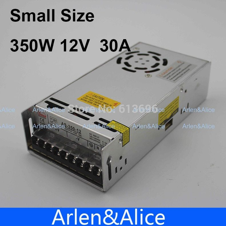 <font><b>350W</b></font> 12V 30A Small Volume Single Output Switching power supply AC to DC 3D print CPAM Free shipping