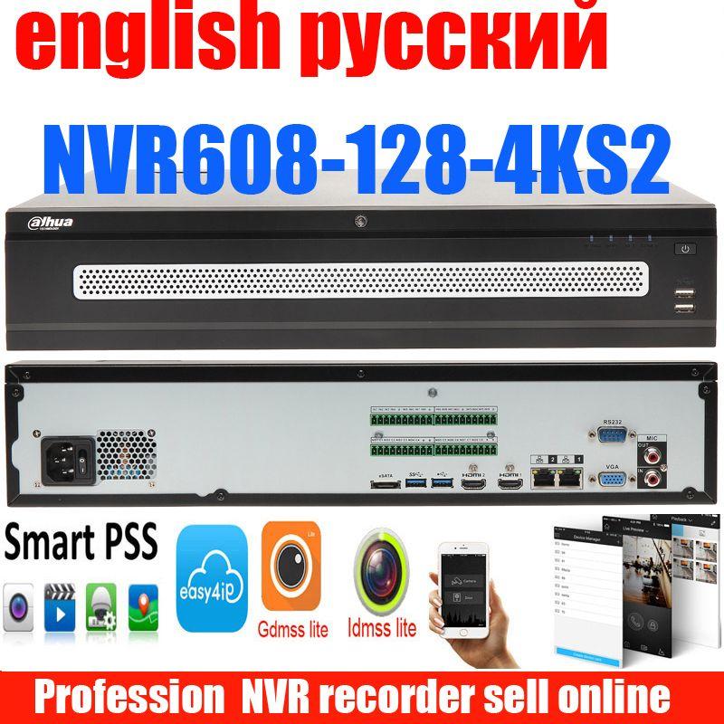 Neue dahua englisch russische NVR608-128-4KS2 128ch NVR netzwerk recorder H.265 bis zu 12MP auflösung original DH-NVR608-128-4KS2