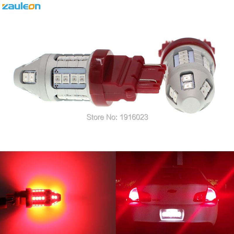 2 шт. zauleon T25 3157 P27/7 Вт 3156 P27W LED красный автомобиль задний фонарь лампы Хвост Тормозные огни для автомобиля с 30smd 2835 светодиодный заднего света