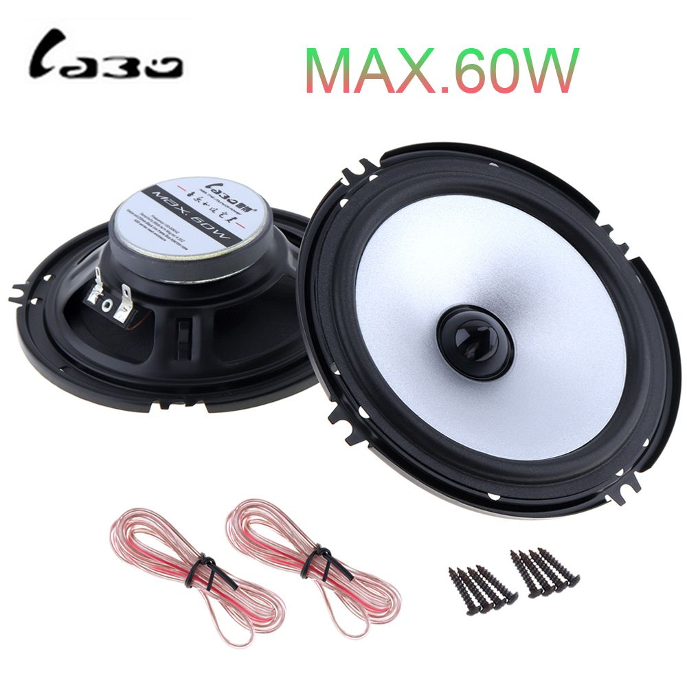 2pcs 6.5 Inch 60W Auto Car Speaker Automobile Vehicle HiFi Audio Full Range Frequency Loud Speaker High Pitch Loudspeaker