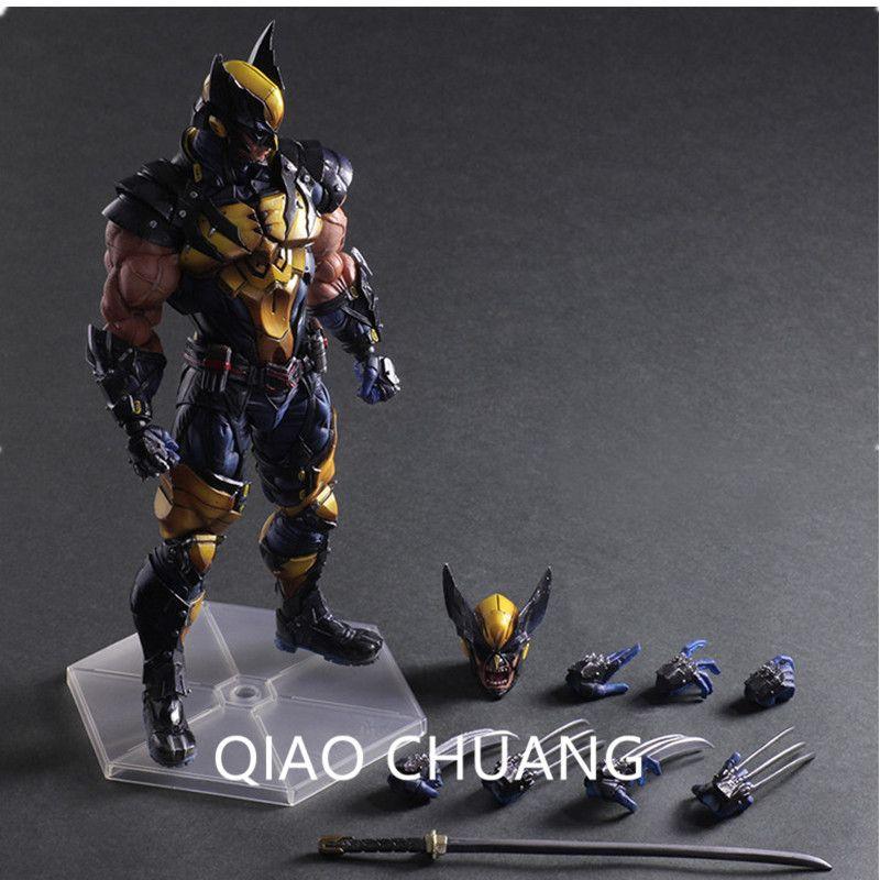 The Avengers Wolverine Play Arts Kai James Howlett X men Logan PVC Action Figure Collectible Model Toy G16