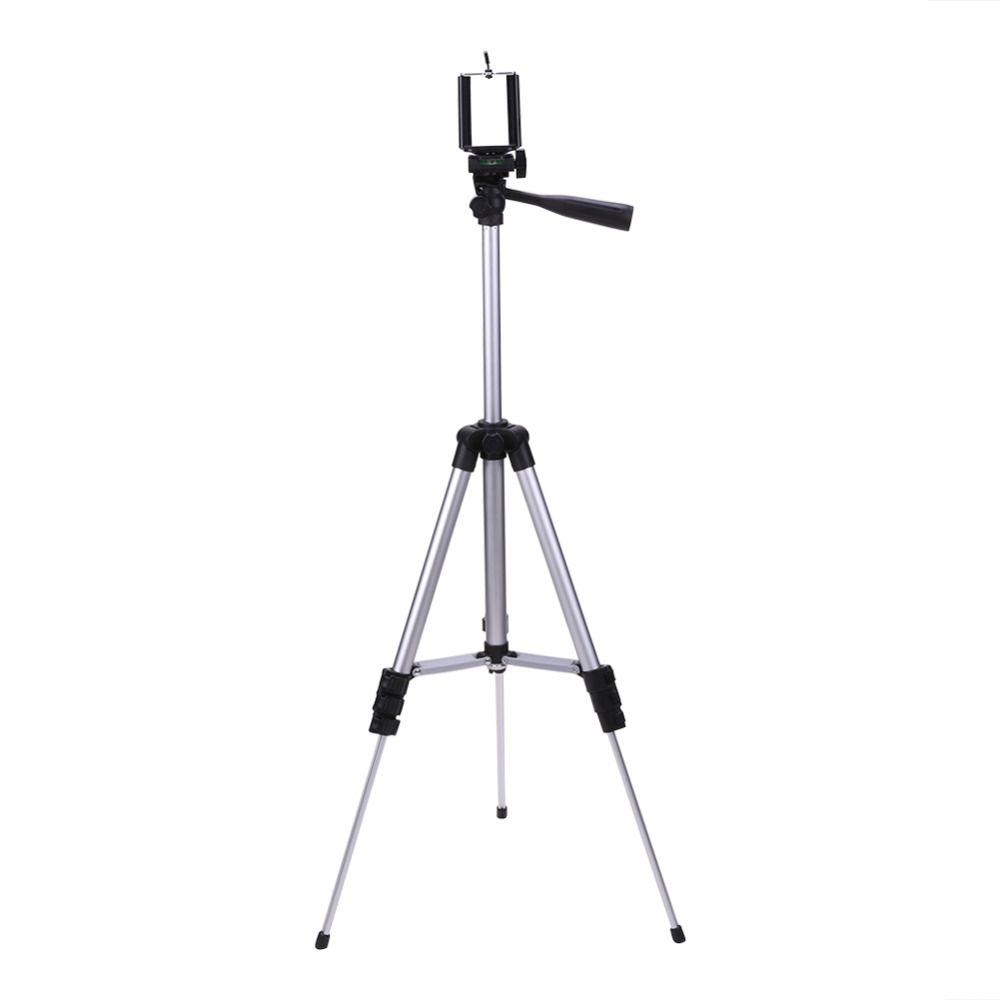 Caméra trépied En Aluminium Professionnel Télescopique Pour appareil photo numérique Caméscope Trépied Pour l'iphone Samsung smartphone