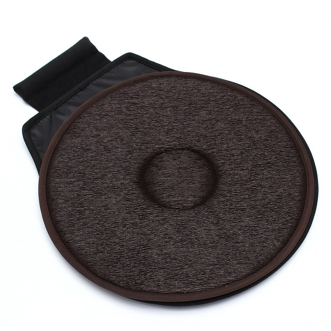 Non-slip Car Seat Revolving Rotating Cushion Swivel Foam Mobility Aid seat cushion in chair Tie On Pad Dark brown-VIP link