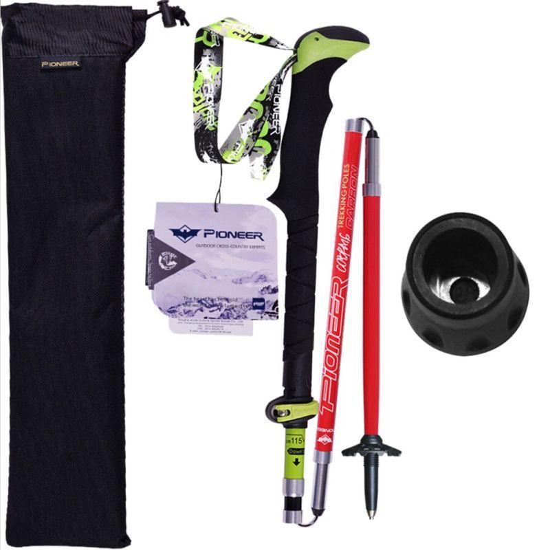 Outdoor New Ultra-light Folding Nordic Walking Poles Carbon Fiber Trekking Poles Trekking Stick Alpenstock Carbon Walking Sticks